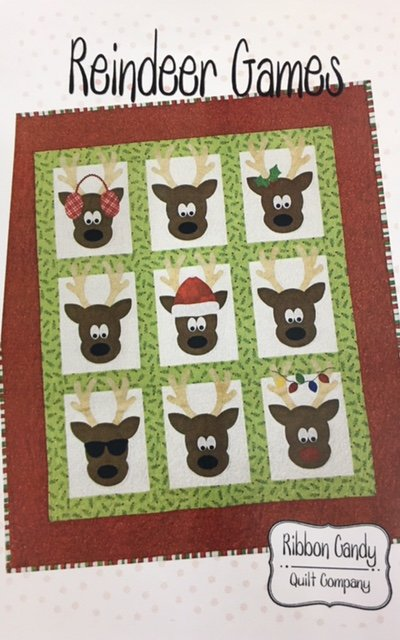 RCQ599 Ribbon Candy Quilt Co. Reindeer Games 48 x 60 Wall Hanging Pattern