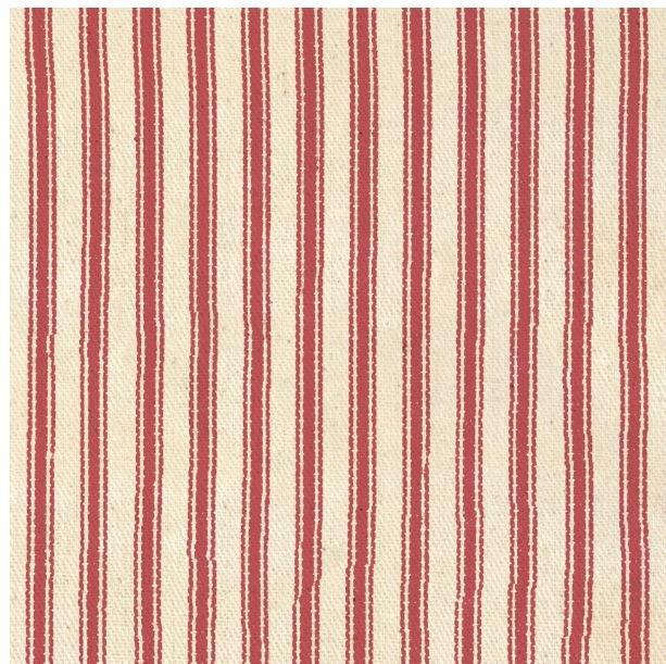 1715DS-20 James Thompson Ticking 10oz Cream/Red 100% cotton