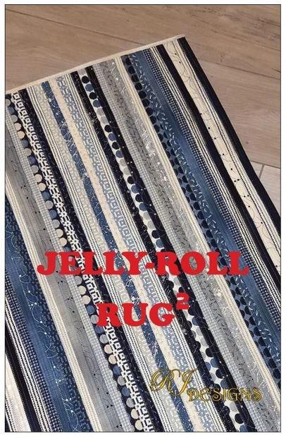 RJD120 RJ Designs Jelly Roll Rug 32 x 42