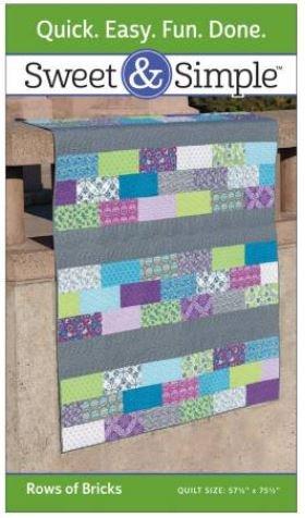 S207 Sweet & Simple Rows of Bricks 57-1/2 x 75-1/2