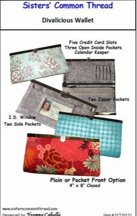 SCT10151 Sister's Common Thread Divalicious Wallet