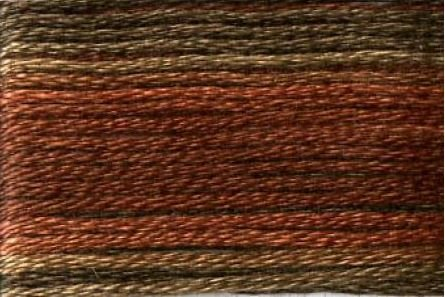 SE80-8041 Cosmo Seasons Variegated Embroidery Floss Browns/Rusts