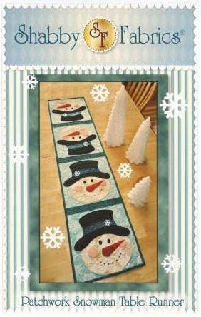 SF48599 Shabby Fabrics Patchwork Snowman Table Runner