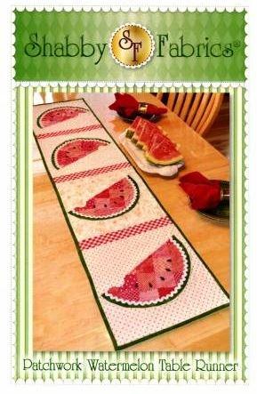 SF48631KIT, Shabby Fabrics, Patchwork, Watermelon Table Runner kit