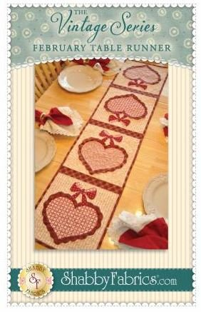 SF48657 Shabby Fabrics Vintage Series Table Runner February Pattern