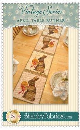 SF48659 Shabby Fabrics Vintage Series Table Runner April Pattern