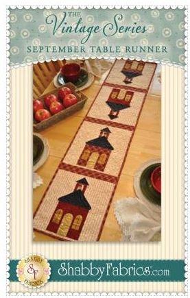 SF48664KIT Shabby Fabrics Vintage Series Table Runner Kit for September
