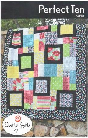 SGD006 Swirly Girl Design Perfect Ten Quilt 60 x 72