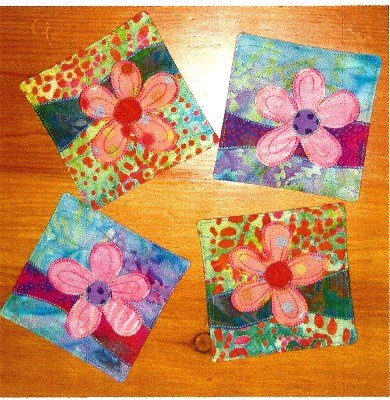 SPRINGFLOWERS On the Trail Creations Coaster Pattern
