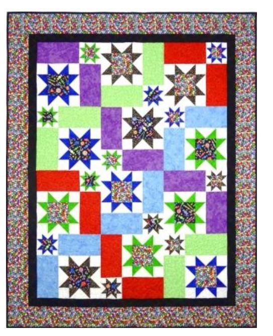 SQD-101ST Stars! Lap Quilt  61 x 76