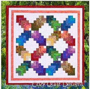 SRR-CR Cozy Quilt Shop Strip Club Pattern Cotton Rainbow