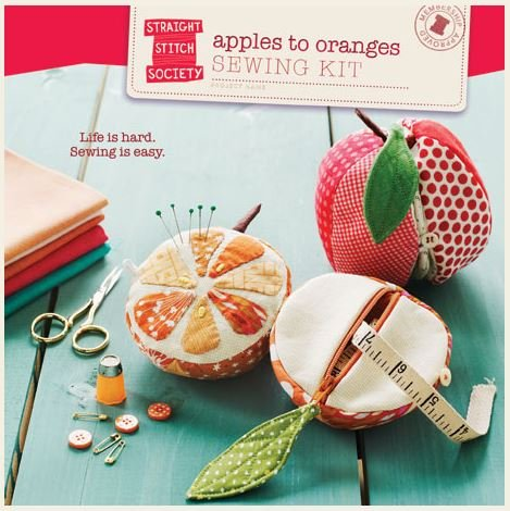 SS003AO1 Straight Stitch Society Apples to Oranges Sewing Kit