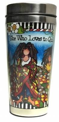 SS127ST  Loves to Quilt Stainless Steel Tumbler 16 oz