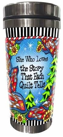 SS162ST  Quilt Story Stainless Steel Tumbler 16 oz