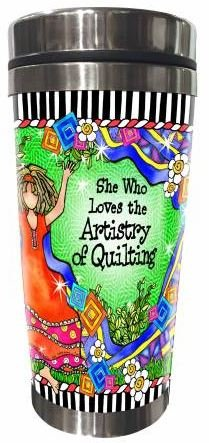 SS257ST  Quilt Artistry Stainless Steel Tumbler 16 oz