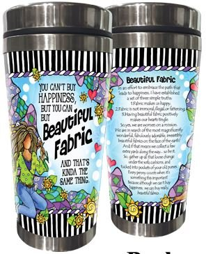 SS267ST  Beautiful Fabric Stainless Steel Tumbler 16 oz