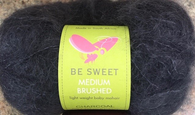 SS-68-24A Be Sweet Baby Mohair Medium Brushed 50g/222 yards Charcoal