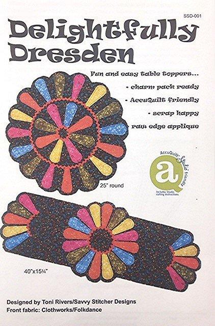SSD-001 Savvy Stitcher Designs Delightfully Dresden Table Topper & Runner