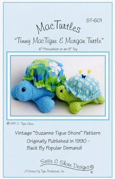 ST-601 Susie C Shore Mac Turtles 6 Pin Cushion and 8 Toy