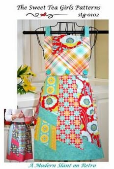 STG-0102 The Sweet Tea Girls A Modern Slant on Retro Apron