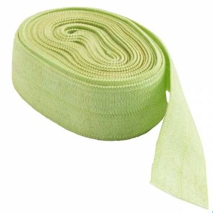 SUP206-APPLGREEN By Anne Fold Over Elastic 5/8 wide 2 yards