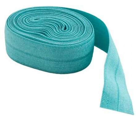 SUP211-TURQ By Annie Fold Over Elastic 3/4 wide 2 yards