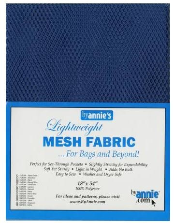 SUP209-BLBLU By Annie's Blast Off Blue Mesh Fabric 18 x 54