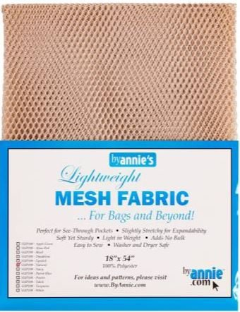 SUP209-NAT By Annie's Mesh Fabric 18 x 54