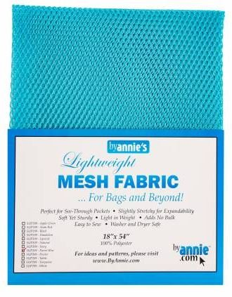 SUP209-PBLU By Annie's Parrot Blue Mesh Fabric 18 x 54