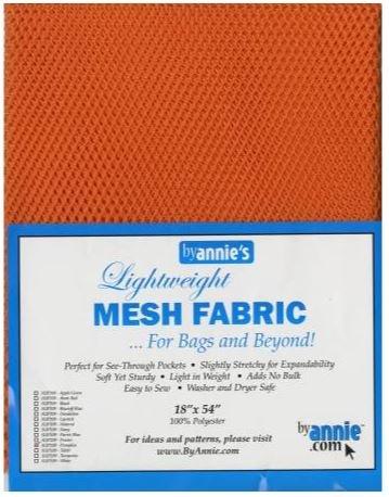 SUP209-PUMP By Annie's Pumpkin Mesh Fabric 18 x 54