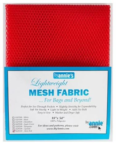 SUP209-RED By Annie's Mesh Fabric Red 18 x 54