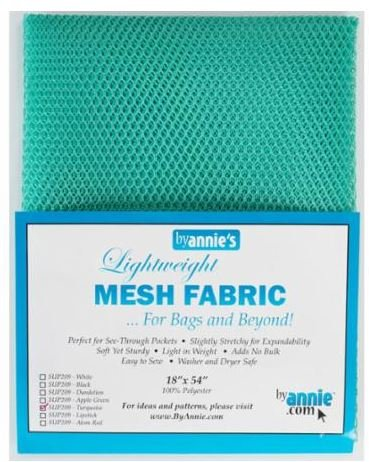 SUP209-TURQ By Annie's Mesh Fabric Turquoise 18 x 54