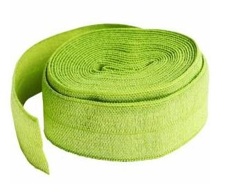 SUP211-2APL By Annie Fold Over Elastic 3/4 wide 2 yards Apple Green