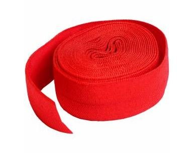 SUP211-2-ATM By Annie Fold Over Elastic 3/4 wide 2 yards Atom Red