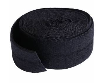 SUP211-2-BLK  By Annie Fold Over Elastic 3/4 wide 2 yards Black