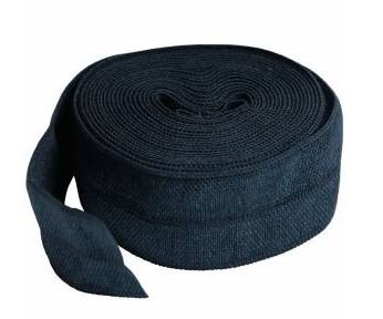 SUP211-2-NVY By Annie Fold Over Elastic 3/4 wide 2 yards Navy