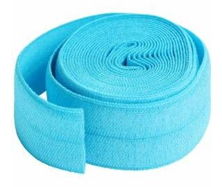 SUP211-2-PBL By Annie Fold Over Elastic 3/4 wide 2 yards Parrot Blue