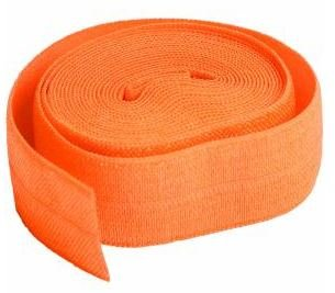 SUP211-2-PMP By Annie Fold Over Elastic 3/4 wide 2 yards Pumpkin