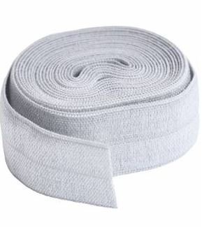 SUP211-2-PWR By Annie Fold Over Elastic 3/4 wide 2 yards Pewter
