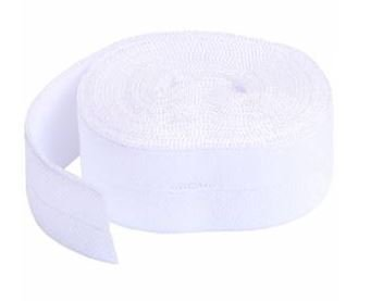 SUP211-2-WHT By Annie Fold Over Elastic 3/4 wide 2 yards White