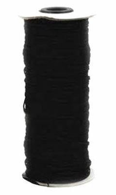 TGQ049, Gypsy Quilter, Black Flat Elastic 1/4 inch