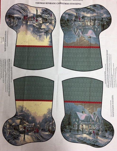 TKSTOCKING David Textiles Thomas Kincaid Christmas Stocking Panel
