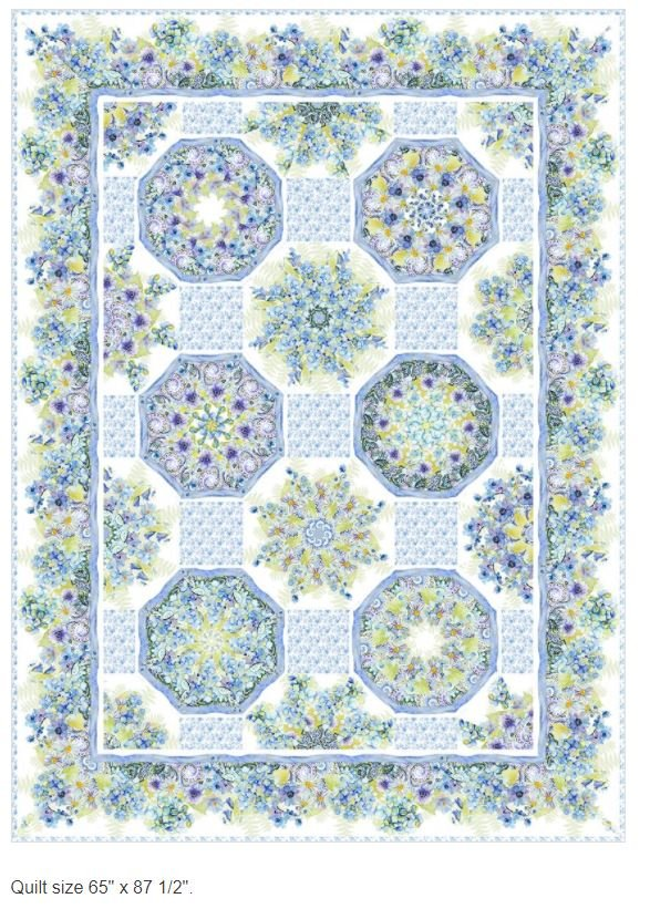 TLC-KKIT Jason Yenter Leah Collection Kaleidoscope Two Fabric Kit 65 x 87 1/2