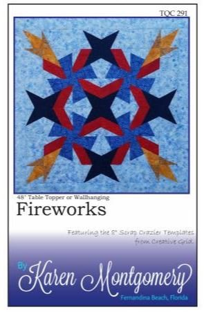 TQC291 The Quilt Company, Fireworks Table Topper or Wallhanging