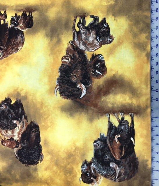 TRO1521 Troy Lone Prairie by Katherine Gardner  Gold Buffalo