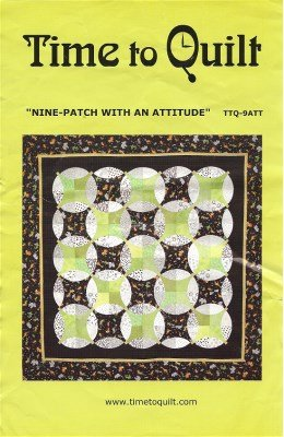 TTQ-9ATT Time to Quilt Acyrlic Templates Nine Patch with an Attitude.