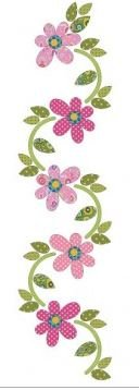 UEA-0889 Applique Elementz Daisy Dotz Border