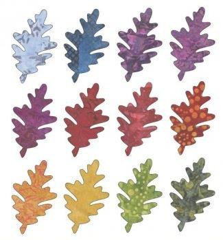UEA-1040 Applique Elementz Falling Leaves - Oak