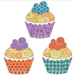 UEA-1106 Applique Elementz Sweet Treats Cupcakes
