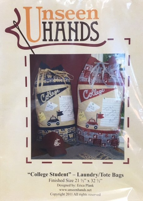 UH1033 Unseen Hands College Student 21.5 x 32.5 Laundry Tote Bag